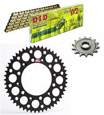 DID 520VX2 chain & 13t/48t Renthal black sprocket kit Suzuki RMZ450 2013-2016