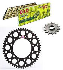 DID 520VX2 chain & 14t/50t Renthal black sprocket kit Suzuki RMZ450 2006-2012