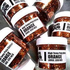 NEW 2 OZ. Jar ORANGE High Temp Glitter .030 Hex Fishing Lure Making plastisol
