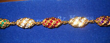 Camrose & Kross Jacqueline Jackie Kennedy Royal Color Egg Bracelet NIB