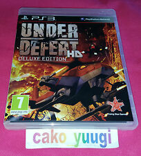 UNDER DEFEAT HD DELUXE EDITION JEU PS3 SONY PS3 TRES BON ETAT COMME NEUF