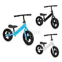 US No Pedal Kid Toddler Balance Bike Bicycle Beginner Ride Training Adjust Seat