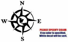 Rose Compass Graphic Die Cut decal sticker Car Truck Boat Window Wall Laptop 6""