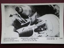 POSTCARD RP SPACECRAFTS - MERCURY CAPSULE (TOP) 1961 & GEMINI TWO MAN CRAFT 1967