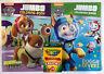 3pc Set Nickelodeon Paw Patrol Jumbo Coloring & Activity Books + Crayons