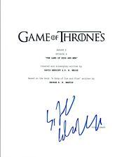 Sibel Kekilli Signed Autographed Game of Thrones S4 E6 Episode Script COA VD