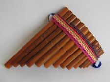 South American Bamboo Pan Flute Beginners Level 13 Pipes #464 Nice Sound New
