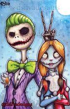 The Nightmare Before Christmas/ Harley Quinn And The Joker  11x17 Artist Print