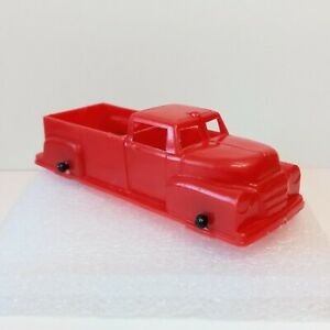 """Lido pick up truck vintage toy 1950s 1960s red plastic 3.75"""""""