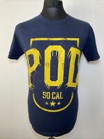 Pod P.O.D SoCal Sessions Hard Rock Band T Shirt Tee Blue Yellow Medium M NEW