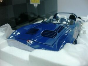 WOW EXTREMELY RARE Chevrolet Corvette GS Roadster Prototype 1964 Blue 1:18 Exoto