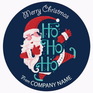 Personalised Merry Christmas sticker small business logo 100 x 35mm Label (01A)