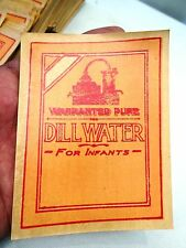 VINTAGE LABELS PAPER LITHO DILL WATER CHEMIST AND DRUGGISTS ADVERTISEMENT 400 Pc