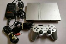Sony Playstation 2 PS2 Slim Konsole Spielekonsole Silber + Controller + Kabel