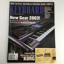 Keyboard Magazine April 2003 Roland V-Synth & Ableton Live 2.0 & Novation KS-4