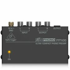 BEHRINGER PP400 Preamplificatore RCA Phono line, giradischi DJ HI-FI