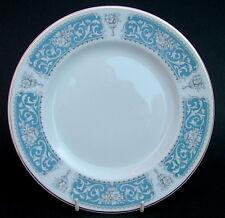 Vintage 1950's Johnson Brothers Blue Regent Snowhite Salad / Dessert Plates 22cm