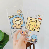 Clear Pikachu Cartoon Clear Phone Case Cover For iPhone7 8Plus XR XsMax 11Pro