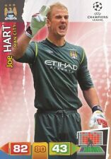 JOE HART ENGLAND MANCHESTER CITY.FC CARD ADRENALYN CHAMPIONS LEAGUE 2012 PANINI