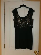 American Eagle Outfitters PARTY MINI DRESS SIZE M  DARK GRAY & SEQUIN NEW w/ TAG
