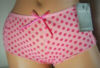 Vintage Panties - Rampage Sheer Pink Polka-dot Boyshort Panty Panties Brief Sz M