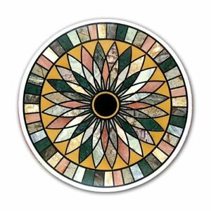 """36"""" x 36"""" Marble coffee Table inlay Pietra dura stones Floral home furniture"""