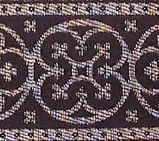 Jacquard, Church Vestment Trim. Black & Metallic Silver
