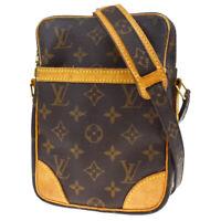 Auth LOUIS VUITTON Danube Shoulder Bag Monogram Leather Brown M45266 88MD692