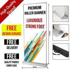 Premium Roller Banner 80cm x 200cm  - Pop/Roll/Pull up Exhibition Display Stand