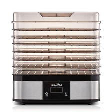 5-Star Chef 7 Trays Stainless Steel Food/Fruit Dehydrator Silver