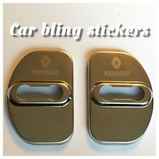 Renault car Polished Door Latch Lock Covers. for Renault Laguna Megane Clio