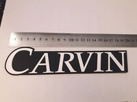 Carvin logo Plastic white  Color 192 mm