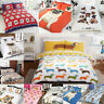 Pug Puppy Dog / Cute Pooch / Bulldog Duvet Quilt Cover Bedding Set & Pillowcases