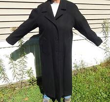 WORTHINGTON WOMAN LG. TALL BLACK 100% THICK WOOL LONG DRESSY TRENCH COAT JACKET