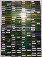 Job Lot 100 x DDR2  Scrap RAM  Memory for repair or Gold recovery 1.633 KG
