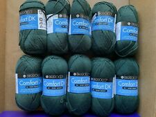 Berroco Comfort DK Yarn - beautiful dark green color! LOT of 10! Beautiful!