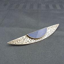 schöne Brosche 925/-Silber Lapislazuli