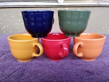 Vtg FIESTAWARE Red Blue Green Yellow Orange Cups 6oz 2.75""