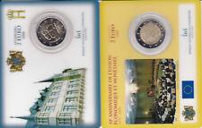 les 2 pièces de 2 euros BU commemoratives 2009 en coincard du luxembourg