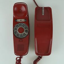 1972 Red Rotary Trimline Vintage Bell System, Wester Electric Desk Phone