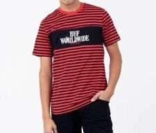 2fa4eeb680 Huf Worldwide x Peanuts Striped Tee Shirt Sz Medium Red Black Snoopy
