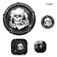 Skeleton Wreck Derby Timer Engine Cover For Harley Dyna FLHTK FLHRS Fatboy FXSTB