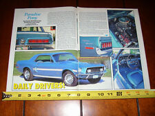 1968 FORD MUSTANG GT/CS CALIFORNIA SPECIAL - ORIGINAL 1992 ARTICLE