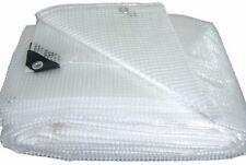 Telo telone occhiellato PVC retinato bianco copertura esterno protezione esterno