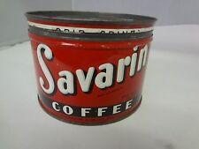 VINTAGE SAVARIN  BRAND COFFEE TIN ADVERTISING COLLECTIBLE GRAPHICS  M-23