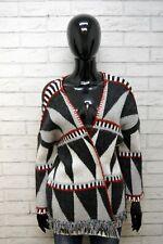 PEPE JEANS Donna M L Mantella Grigio Cardigan Maglione Scialle Sweater Women