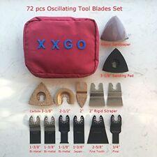 72 Pc Oscillating Multi Tool Accessory Saw Blades Kit Fits Dewalt Fein Bosch AEG