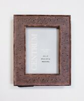 """Centrum Faux Ostrich Photo Frame Holds 3.5x5"""" Picture Brown W/ Minor Scratches"""