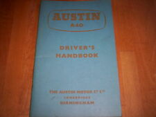 orig. handbook Austin A 40 1959, unused!!! Owners manual, Pininfarina