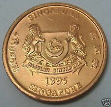 1995 Singapore One (1) cent coin collection